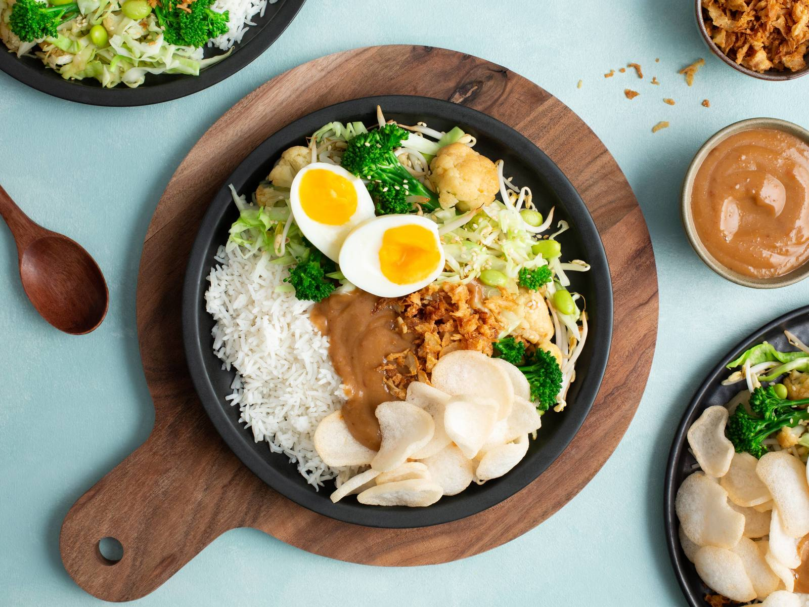 Aziatische Gado Gado bowl