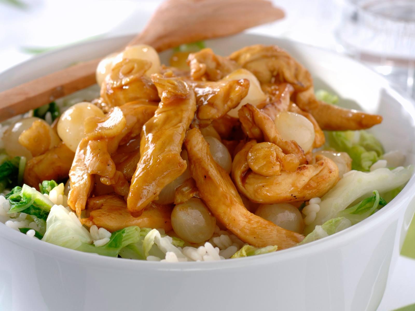 Chinese kip met oestersaus en zoetzure uitjes