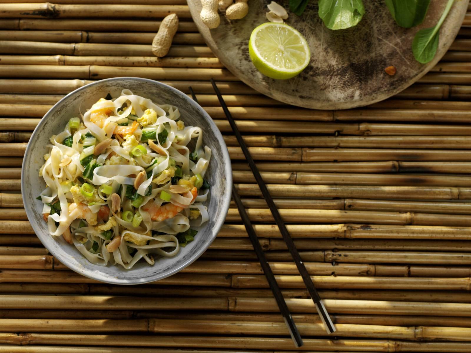 Pad Thai met rijstnoedels