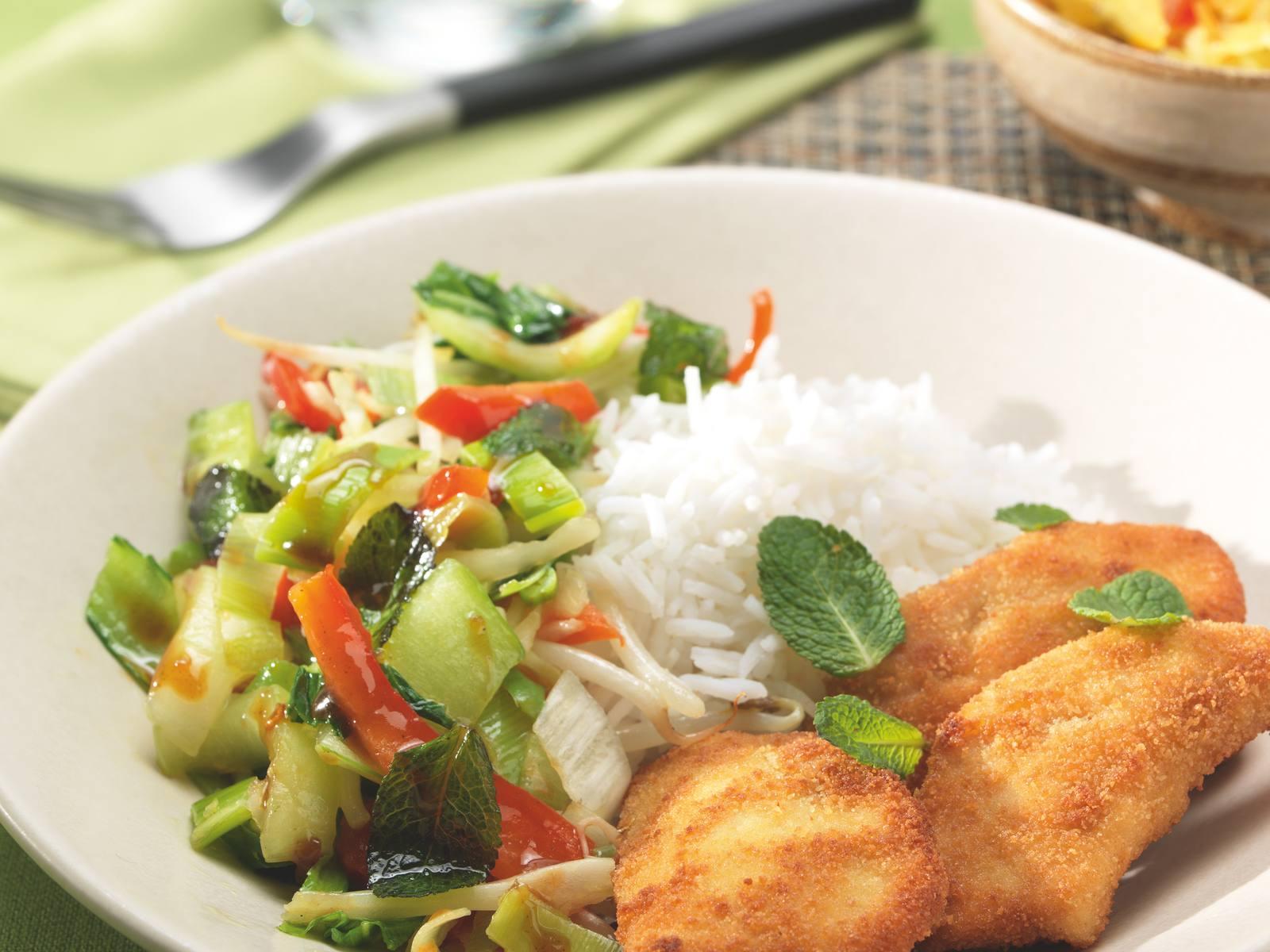 Vietnamese kip krokant met gember knoflook groenten