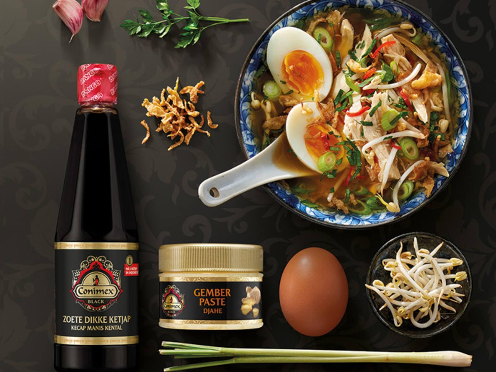 Soto Ayam Indonesische maaltijdsoep met kip