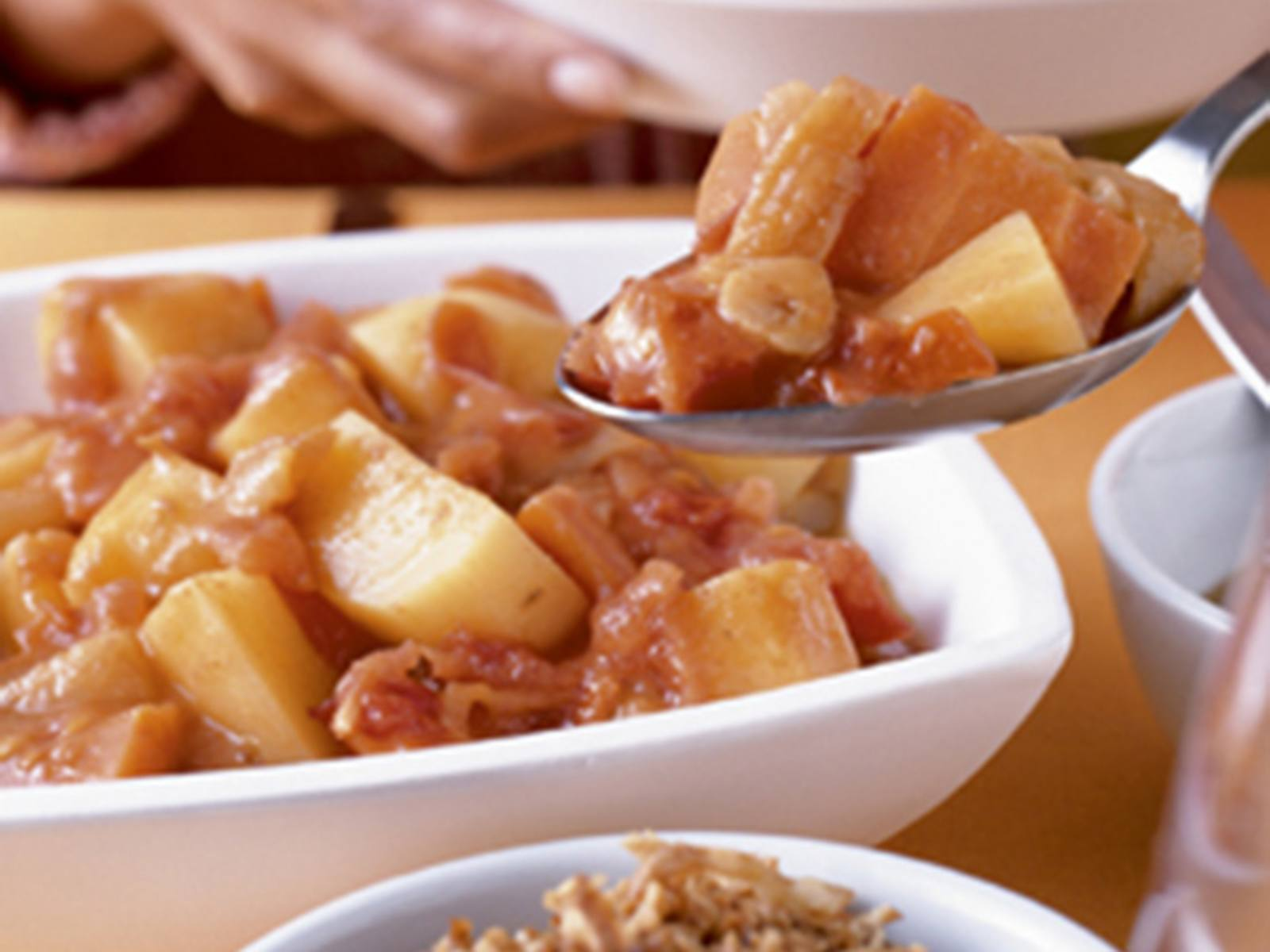 Groentecurry met aardappel