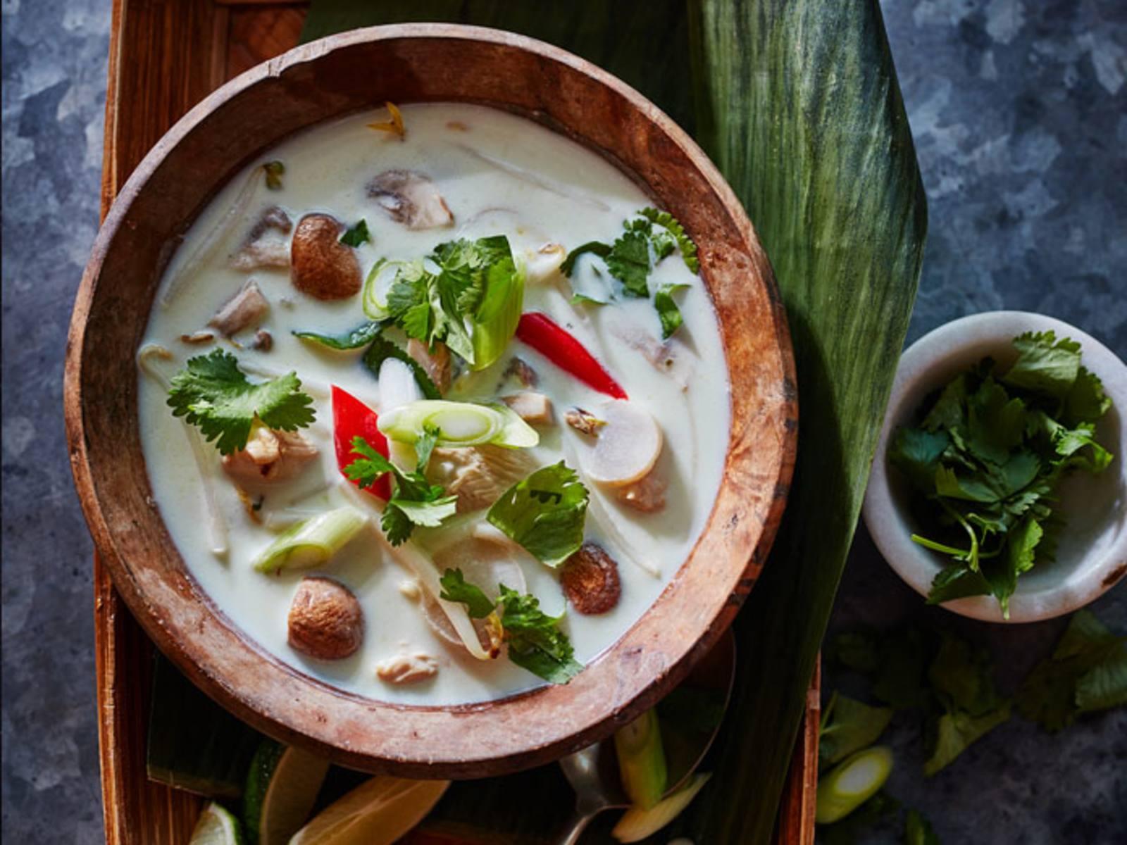 Tom Kha Kai Thaise Kokossoep met Kip