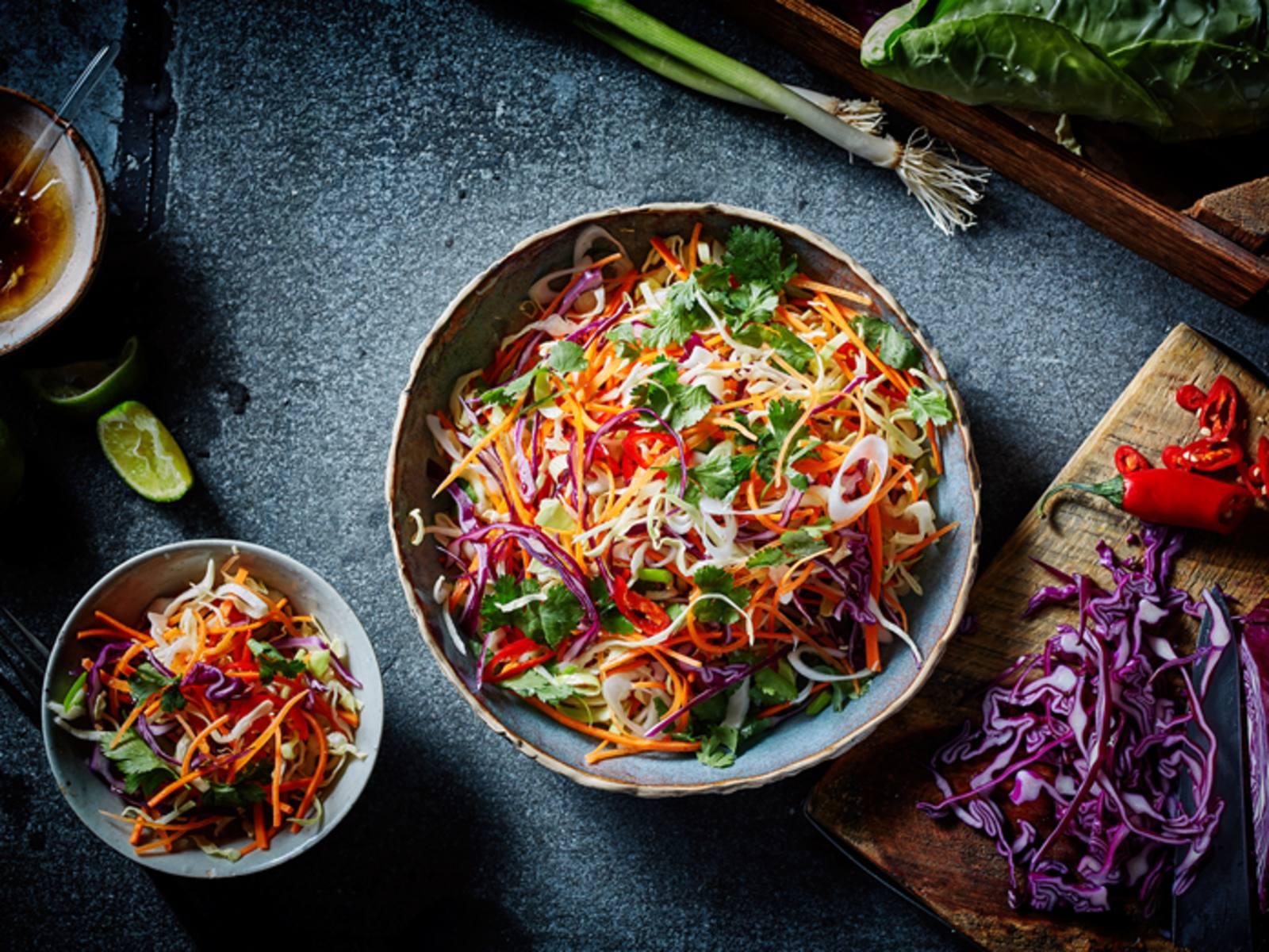 Thaise koolsalade