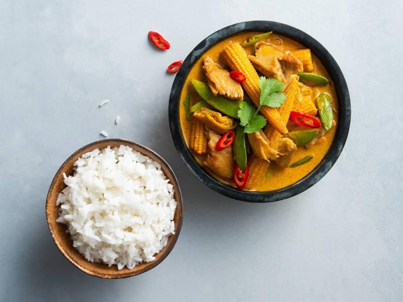 Gele Curry met Rijst