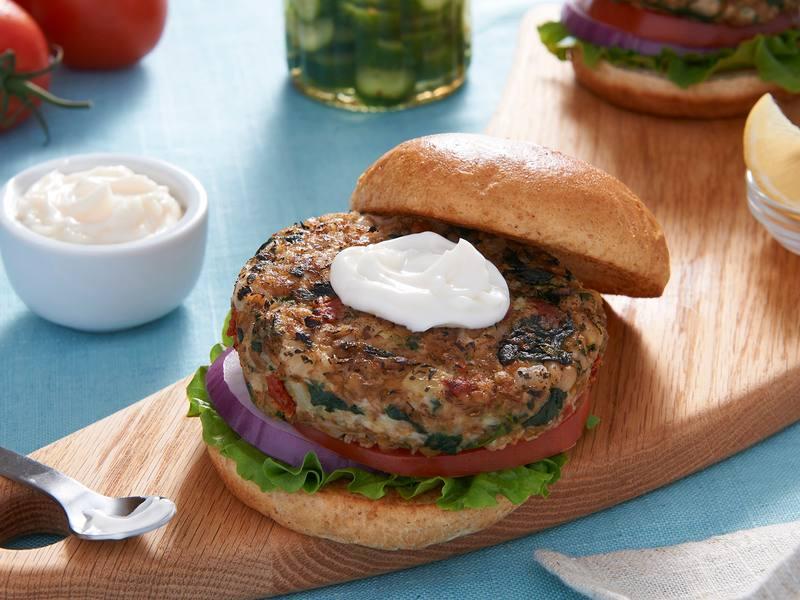Mediterranean Vegan Burgers