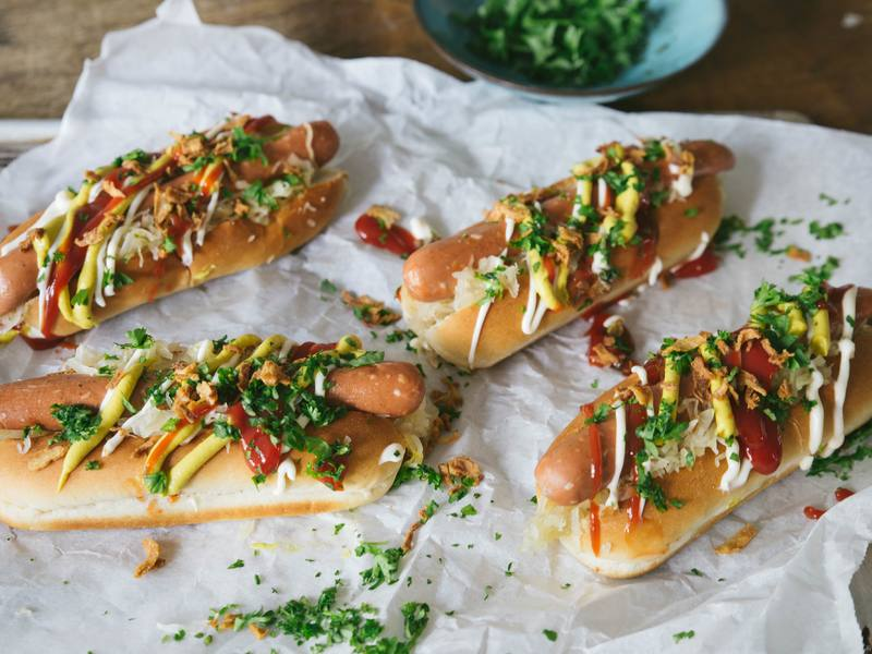 Sweet and sour pickle hotdog recipe