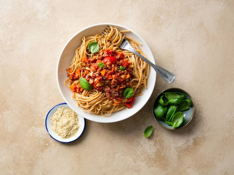 Spaghetti Bolognese mit Hick-Hack-Hurra