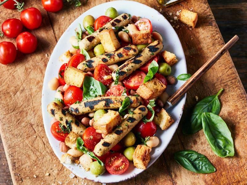 Vegetarische Little Willies en Big Beans Salade