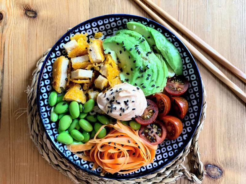 Poke Bowl con Nug-get's party! vegano