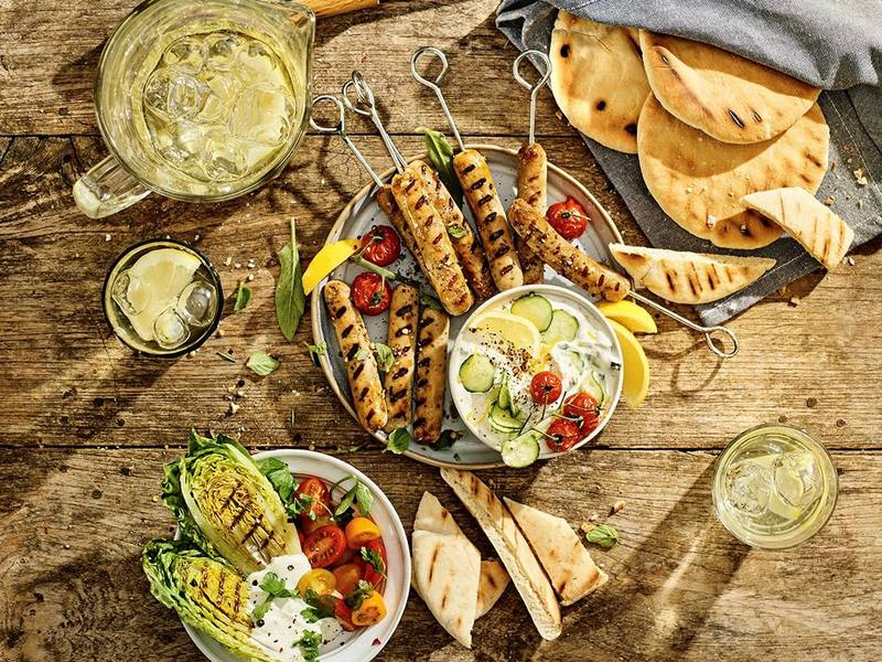 Gerookte vegetarische Little Willies met Griekse tzatziki