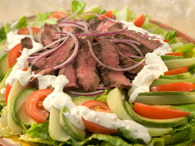 Chayote & Skirt Steak Salad