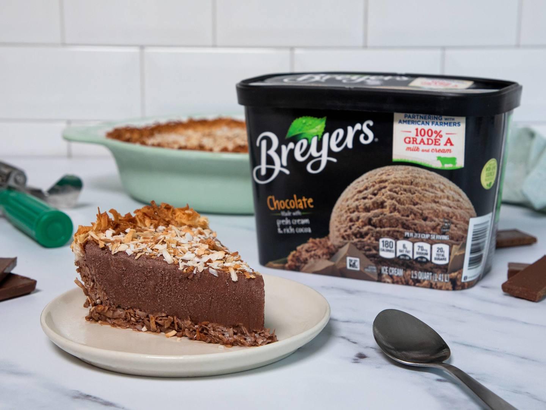 Pastel helado de chocolate alemán