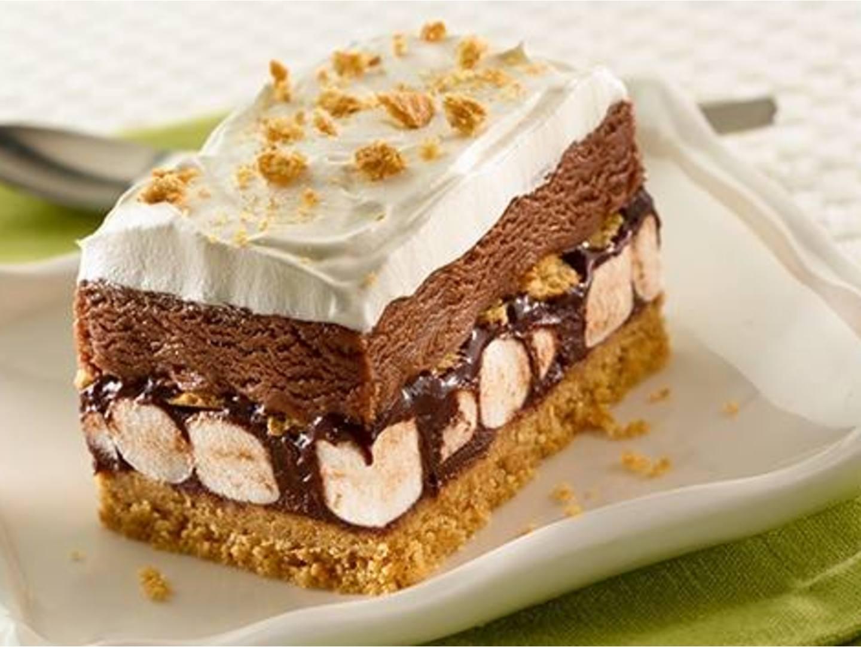 Pastel helado de s'mores