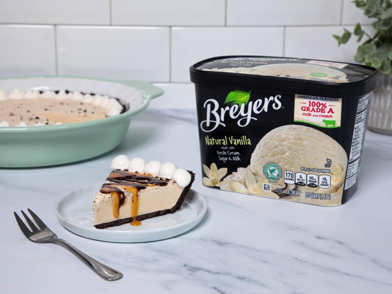 Pastel de helado y mantequilla de mani