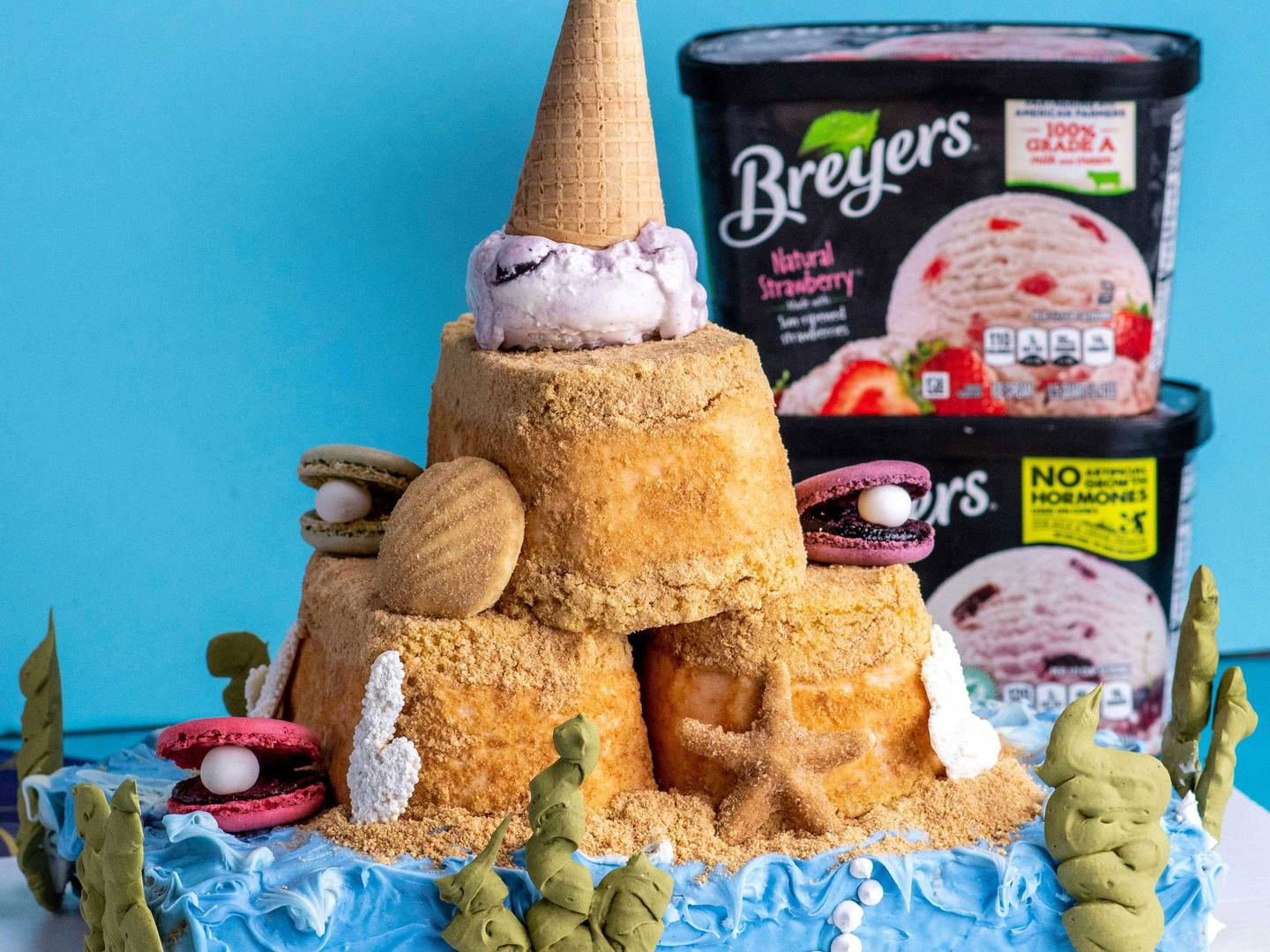Sand Castle Ice Cream Cake Recipe
