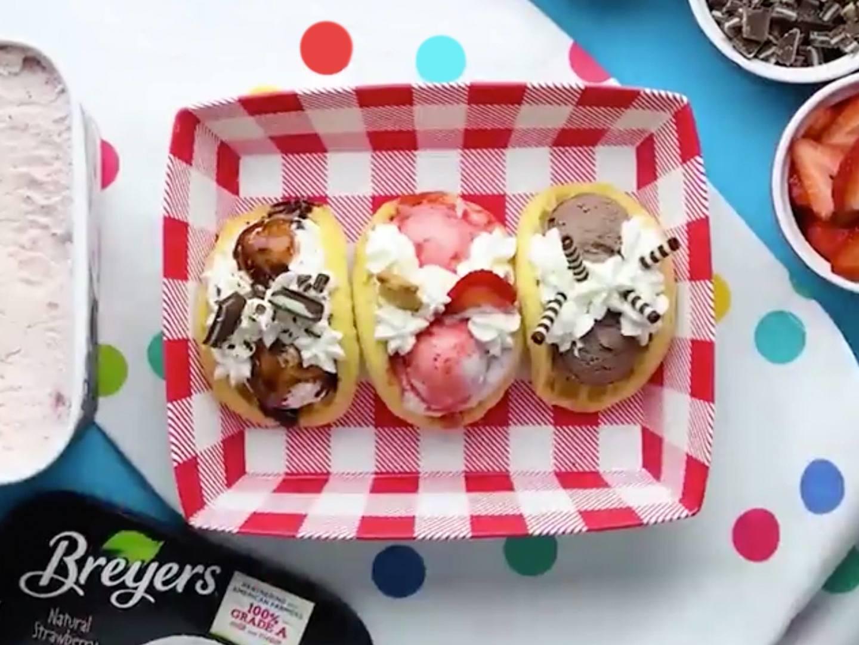 Ice Cream Waffle Tacos Recipe