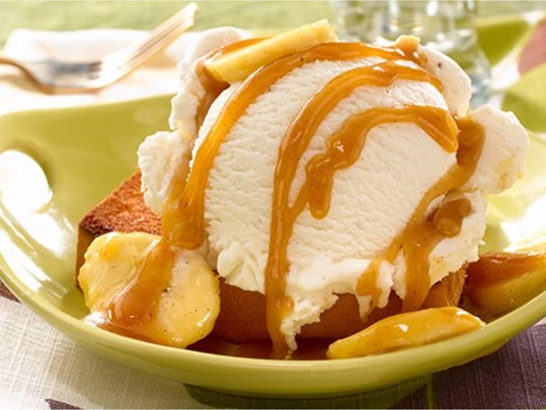 Quatre-Quarts Grillé Glacé aux Bananes