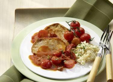 Knorr - Sommerliches Schweinsschnitzel mit leichter Gemüsesauce