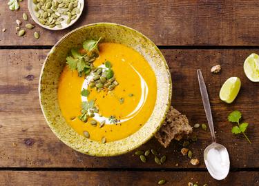 Klimatvänlig sötpotatis- och linssoppa