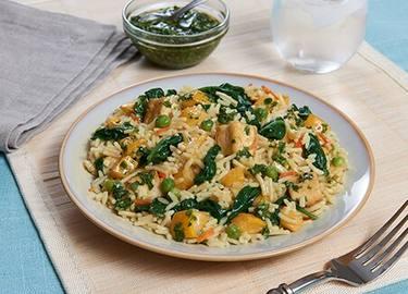 Vegetable & Tofu Rice with Chimichurri
