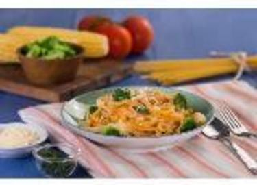 Fettucini brocoli saus jagung