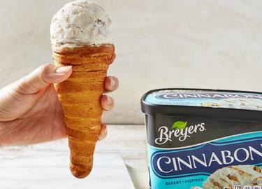 CINNABON® Cinnamon Roll Ice Cream Cone