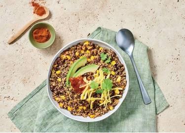 Mexican Spiced Black Bean & Corn Quinoa Bowl