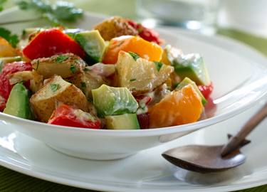 Roasted Potato & Avocado Salad
