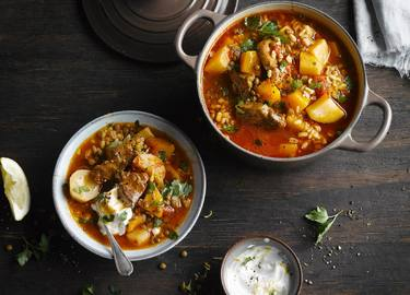 Hearty Lamb barley stew