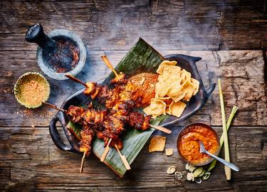 Indonesian What the Cluck Satay