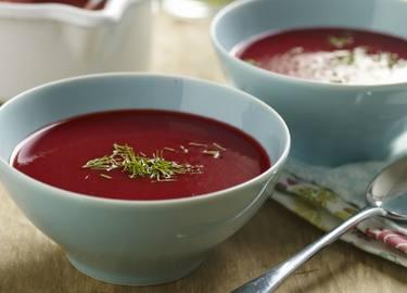 Sopa fría de remolacha
