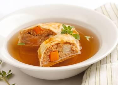 Knorr - Rindsuppe mit Wiener Fleischstrudel