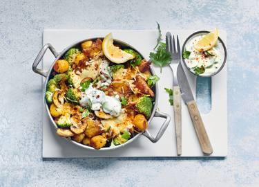 Martijns ovenschotel met vegan Kipstuckjes