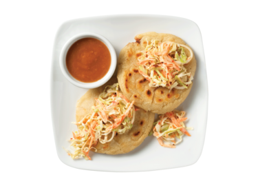 Salvadorean Pupusas (Stuffed Masa Cakes)