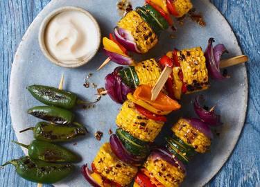 Corn Veggie Kabobs