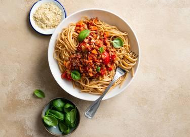 Espaguetis a la boloñesa de Picado Carnal