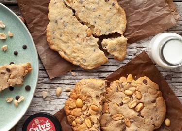 Erdnussbutter Cookies mit Schokotröpfchen