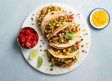 Tacos mejicanos con Picado Carnal veganos