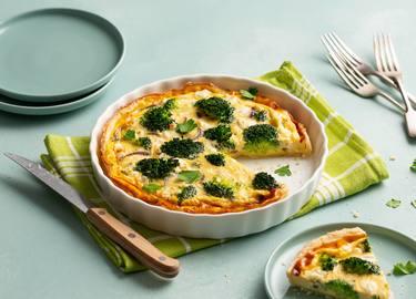 Broccoliquiche met rode ui en feta