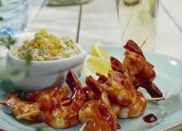 Knorr - Barbecue - Garnelen zu Mais-Dip