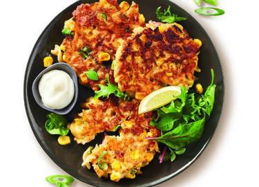 Corn & Carbonara Pasta Fritters