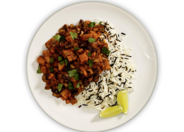 Sweet Potato Bean Chili plate