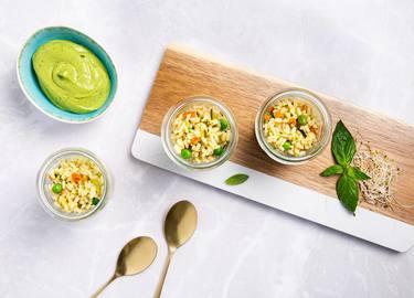 Knorr - Reissalat mit Zucchini-Avocadocreme