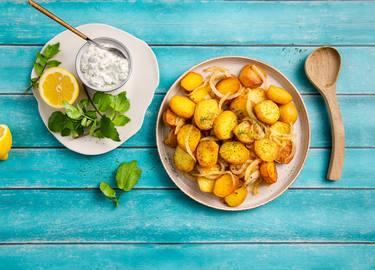 Knorr - Bratkartoffeln mit Brunnenkresse-Dip