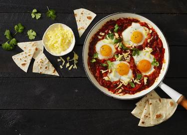 One pan mexican eggs