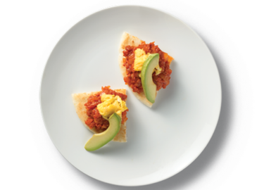Arepas with Chorizo, Egg and Avocado