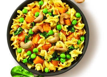Pumpkin & Pea Curry Pasta