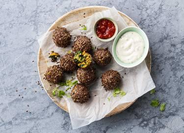 Polpette di zucca vegetariane con semi di lino