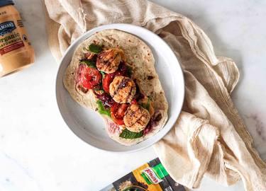 Kimia Shoghi's Middle Eastern Meatball Wrap